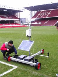 Weather Station on football pitch