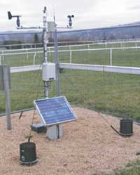 Weather Station on course